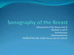 Sonography of the Breast