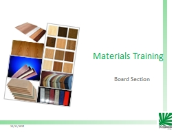 Materials Training Board Section