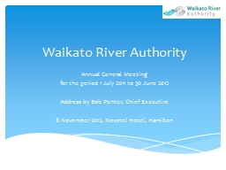 Waikato River Authority Annual General Meeting