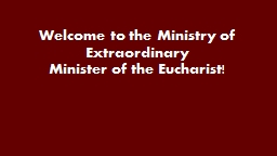 Welcome to the Ministry of Extraordinary