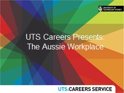 UTS Careers Presents: The Aussie Workplace