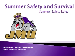 Summer Safety and Survival