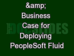 The Value & Business Case for Deploying PeopleSoft Fluid