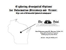 Exploring  G eospatial Options