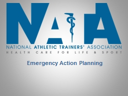 Emergency Action Planning