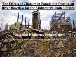 The Effects of Changes in Population Density on River