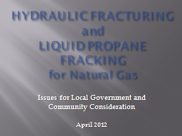 HYDRAULIC FRACTURING and