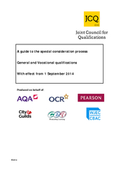 A guide to the s pecial onsideration process General a