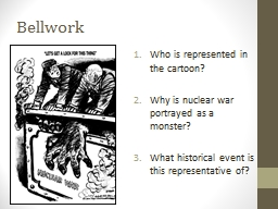 Bellwork Who is represented in the cartoon? PowerPoint PPT Presentation