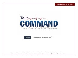 Take Command:  Enhance Your TRICARE Experience