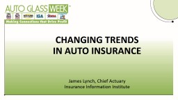 James Lynch, Chief Actuary