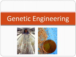 Genetic Engineering What is the difference between PowerPoint PPT Presentation