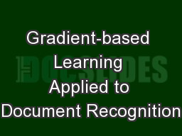 Gradient-based Learning Applied to Document Recognition