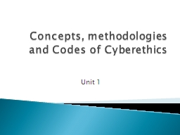 Concepts, methodologies and Codes of