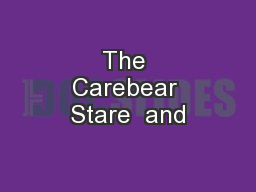 The Carebear Stare  and
