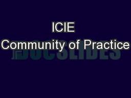 ICIE Community of Practice
