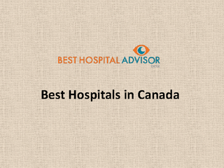 Best Hospitals in Canada