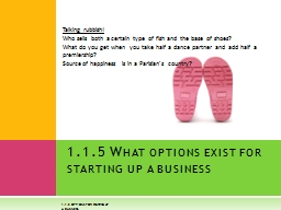 1.1.5 Options for starting up a business