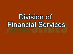 Division of Financial Services
