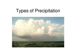 Types of Precipitation  Precipitation is any form of m