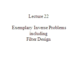Lecture 22  Exemplary Inverse Problems PowerPoint Presentation, PPT - DocSlides