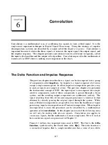 CHAPTER Convolution Convolution is a mathematical way