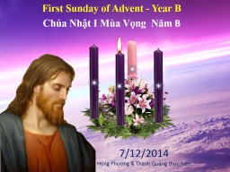 First Sunday of Advent - Year B PowerPoint PPT Presentation