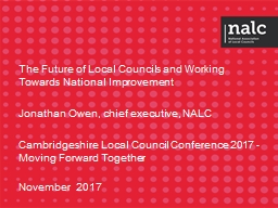 The Future of Local Councils and Working Towards National Improvement