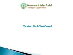 Dealer  End-Dashboard Training Program