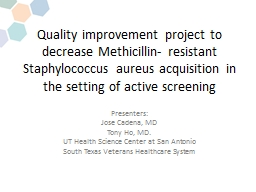Quality improvement project to decrease