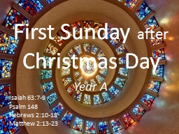 First Sunday  after  Christmas Day