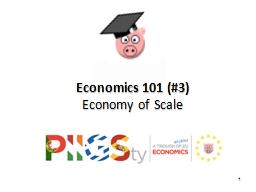 1 Economics 101  (#3)  Economy