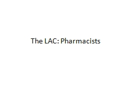 The LAC: Pharmacists Chapter 25