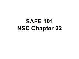 SAFE 101 NSC Chapter 22 Transportation Safety Programs