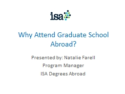Why Attend Graduate School Abroad?