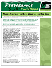 Muscle Cramps The Right Ways for the Dog Days August b