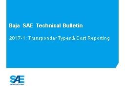 Baja SAE  Technical Bulletin