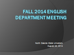 Fall 2014 English department meeting PowerPoint Presentation, PPT - DocSlides