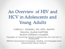 An Overview of HIV and HCV in Adolescents and Young Adults