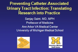 Preventing  Catheter-Associated Urinary Tract