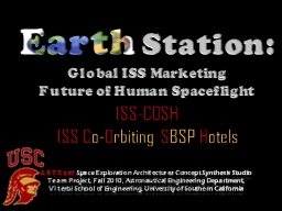Earth  Station:  Global ISS Marketing