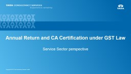 GST Annual Return and Audit