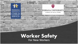 Worker Safety For DCS Contracted Service Providers PowerPoint PPT Presentation
