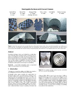 Developable Surfaces with Curved Creases Martin Kilian