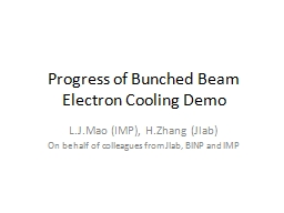 Progress of Bunched Beam Electron Cooling Demo