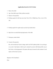 Application form for IACS Crche PowerPoint PPT Presentation