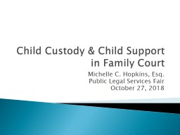Child Custody & Child Support in Family Court