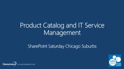 Product Catalog and IT Service