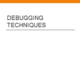 Debugging Techniques Wiring
