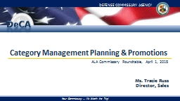 Category Management Planning & Promotions